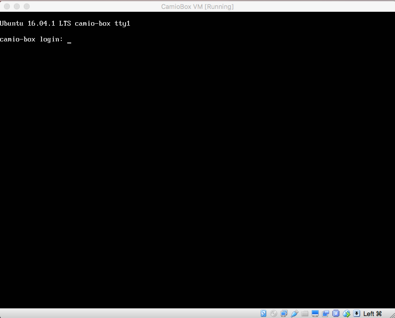 How to set up Camio Box in Oracle VirtualBox – Camio